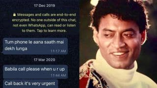 Irrfan's Son Babil Khan Shares Screenshot of Their WhatsApp Chat, Late Actor Used to Call Him 'Babila'