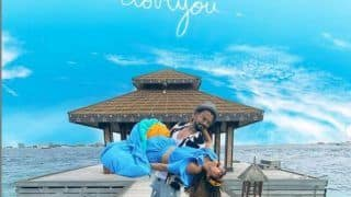 Check Hina Khan's Unmissable Reaction When Boyfriend Rocky Jaiswal Carried Her in His Arms in Maldives