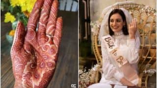 Dia Mirza Shares a Glimpse of Her Mehendi Ahead of Wedding With Vaibhav Rekhi - See Pic