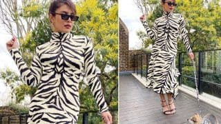 Priyanka Chopra Jonas Twins with Her Pooch, Diana, in a White Tiger Print Outfit