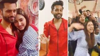 Rahul Vaidya Celebrates His Homecoming With 'Pawri Ho Rahi Hai' Along With Disha Parmar | Viral Video
