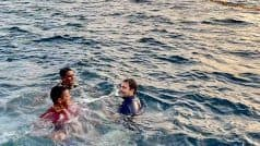 Rahul Gandhi Takes Dip Into Sea With Fishermen in Kerala | Watch Video, Photos Here