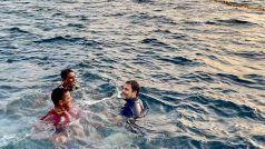Rahul Gandhi Takes Dip Into Sea With Fishermen in Kerala | Watch Video, Photos Here