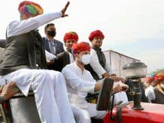 Rahul Gandhi Drives Tractor at Farmers' Rally in Rajasthan's Ajmer | Watch Video