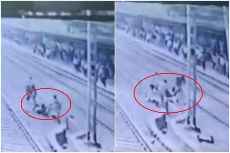 Viral Video: RPF Men Avert Suicide Attempt, Drag 'Depressed' Man Away From Approaching Train | Watch
