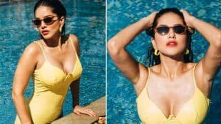 Sunny Leone Hot Pics in yellow bikini- सनी लियोनी ने बिकिनी में फिगर किया फ्लॉन्ट, गीले बालों से टपकती बूंदों ने जुल्म ढा दिया