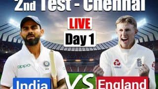 India vs England MATCH HIGHLIGHTS 2nd Test, Day 1 Chennai: Rohit 161, Rahane 67; IND 300/6 at Stumps