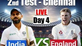 India vs England Live Score and Updates 2nd Test Day 4