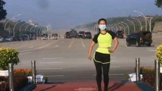 Myanmar Woman Does Aerobics As Military Coup Unfolds Behind Her. Video Viral | Watch
