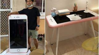Oops! Boy Buys 'Cheap' iPhone Online, Gets iPhone-Shaped Coffee Table Instead | See Hilarious Pics