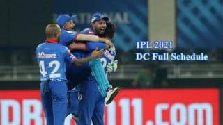 Delhi Capitals IPL 2021 Full Schedule: Check Out The Fixtures List For DC