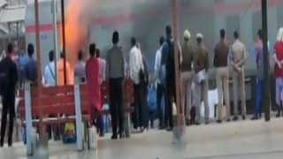 Delhi-Lucknow Shatabdi Express Catches Fire at Ghaziabad railway station