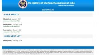 ICAI CA Result 2021: CA Foundation, Final January Exams Results Declared, Here's How to Check Score