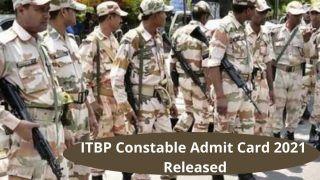 ITBP Constable Admit Card 2021 Released: ITBP ने जारी किया कांस्टेबल ट्रेड्समैन का एडमिट कार्ड, ये है डाउनलोड करने का Direct Link