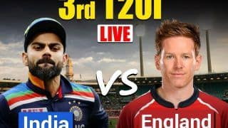 LIVE India vs England 3rd T20I Live Cricket Score Ahmedabad: Virat Kohli And Co. Aim to Continue New Approach as Hosts Target Series Lead vs England