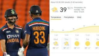 India vs England 4th T20I Ahmedabad Weather Forecast, Pitch Report, Likely Playing XIs: Squads, Toss, Team News For IND vs ENG 4th T20I at Narendra Modi Stadium