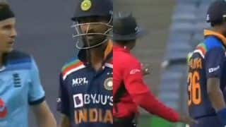 Krunal Pandya-Tom Curran Engage in a Heated Argument During 1st ODI Between India-England | WATCH VIDEO