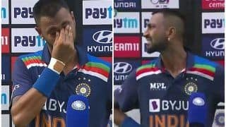 WATCH | Krunal Breaks Down to Tears After Fifty on ODI Debut, Dedicates it to Late Father
