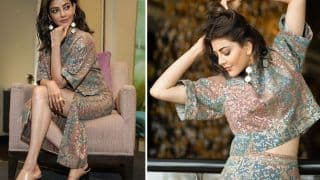 Kajal Aggarwal in Rs 47,000 Sequin Co-ord Set Shimmers Her Way Into The Fans' Hearts