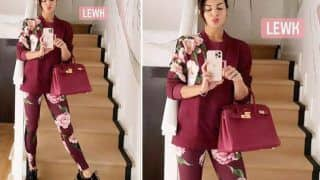 Jacqueline Fernandez in Rs 93,388 Sweatshirt And Tights Gets Spring Fashion Right