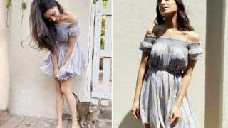 Shraddha Kapoor is Radiant in Rs 14,500 Lilac Floral Off-Shoulder Dress| See PICS