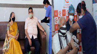 Corona Vaccination Drive: RSS प्रमुख मोहन भागवत और केंद्रीय मंत्री नितिन गडकरी ने लगवाया कोरोना टीका