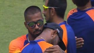 India vs england 1st odi krunal pandya seemed to be emotional on debut pointed to gap to the sky watch this video 4511619