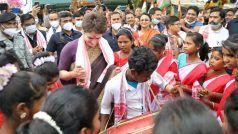 Assam: प्रियंका गांधी ने असम में शुरू किया चुनाव प्रचार अभियान, महिलाओं के साथ कुछ इस तरह किया पारंपरिक डांस