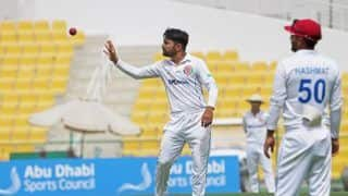 Afghanistan vs zimbabwe 2nd test rashid khan has bowled the most overs in a test match since 2000 4490987