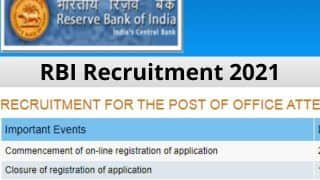 RBI Recruitment 2021: 10वीं पास के लिए भारतीय रिज़र्व बैंक में नौकरी करने का सुनहरा मौका, इस बंपर वैकेंसी के लिए Direct Link से करें आवेदन