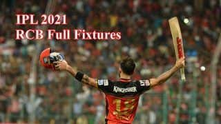 Royal Challengers Bangalore IPL 2021 Full Schedule: Check Out The Fixtures List For RCB