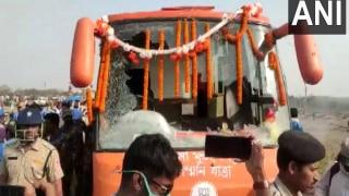 West Bengal Assembly Polls: BJP's 'Rath' Vandalised in Purulia After Abhishek Banerjee's Rally