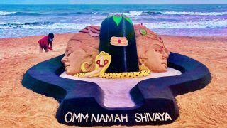 Famous Sand Artist Sudarsan Pattnaik Creates Sculpture of Lord Shiva at Puri beach on the Occasion of Mahashivratri