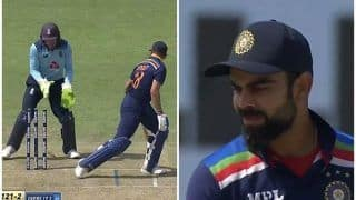 Virat Kohli Clean Bowled by Moeen Ali in 3rd ODI Between India-England in Pune | WATCH VIDEO