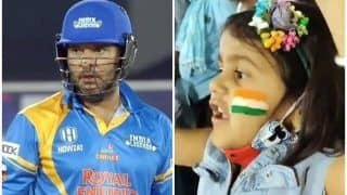 Yuvraj Singh Advises Cute Little Fan to Wear Mask While Cheering During Road Safety World Series | SEE POST