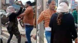 Meerut Woman Catches Husband Buying Clothes For His Girlfriend, Thrashes Him in Full Public View