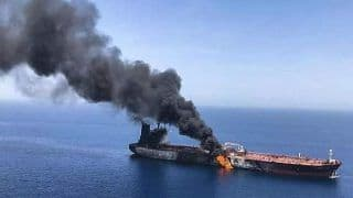 Photo Of Missile Attack On Israeli Ship That Was On Way To Mundra Port Emerges