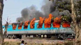 Fire In Shatabdi Express Train: हरिद्वार में शताब्दी ट्रेन में लगी भीषण आग, मची अफरा-तफरी