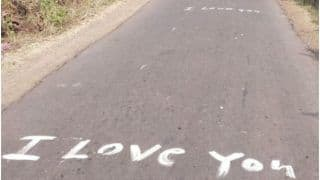 Deewana Aashiq Writes 'I Love You, I Miss You' on 2.5 Km Road to Express Feelings For Girlfriend | Watch Video