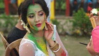 लहंगा-चोली में भोजपुरी स्टार Monalisa का होली वीडियो वायरल, खूब उड़ाया रंग-गुलाल- See Viral Video