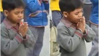 Lollipop Viral Video: Little Boy Secretly Licks Lollipop in School Assembly, Wins Hearts With His 'Jugaad' | Watch