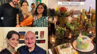 Inside Photos, Videos of Kangana Ranaut's Birthday Party With Ekta Kapoor, Anupam Kher, Ashwiny Iyer, Friends