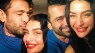Love You Khansaab! Eijaz Khan Plants Kiss on Pavitra Punia's Forehead As He Holds Her Passionately