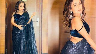 Neha Kakkar in Rs 19,152 Saree Spills Hotness Around, Husband Rohanpreet Singh Agrees