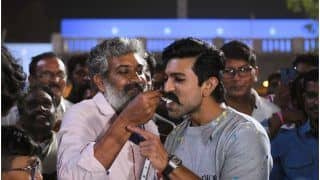 SS Rajamouli, Team RRR Surprises Ram Charan With Grand Birthday Celebration On Movie Sets, See Pictures