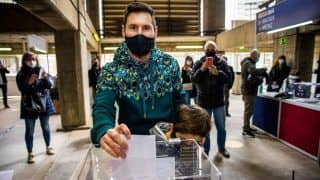 Lionel Messi And Other Barca Players Cast Vote for Barcelona Presidential Election at Camp Nou