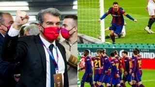 From Convincing Lionel Messi to Fighting Financial Crisis: Challenges Barcelona New President Joan Laporta Will Have to Tackle