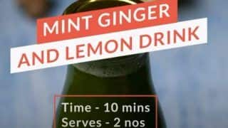 How to Make Mint Ginger Lemonade, an Immunity Booster Drink in 10 Minutes- Watch Recipe!
