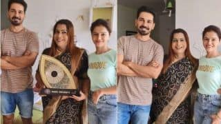 Rubina Dilaik- Abhinav Shukla Take Blessing From Real 'Guruma of Kinnar Samaj'; Welcomed Them Home, Gifted Sarees