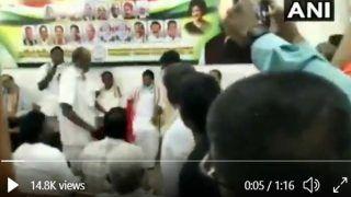 Puducherry Election 2021: कांग्रेस चुनाव समिति की बैठक में हंगामा, यूं हाथापाई करने लगे नेता, देखें VIDEO
